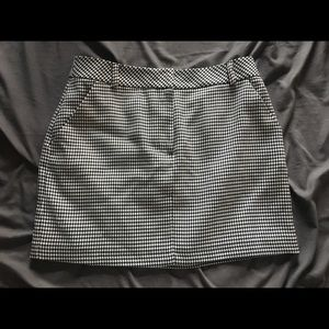Brand new! Topshop gingham mini skirt